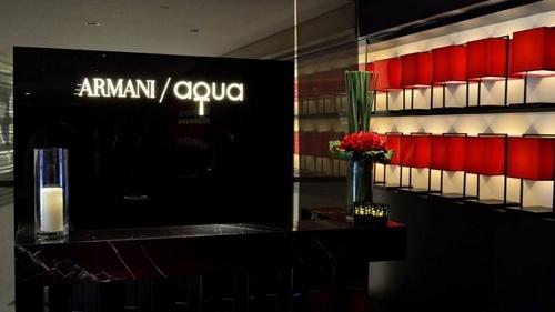 Armani/Aqua Italian & Japanese restaurant Landmark Hong Kong.