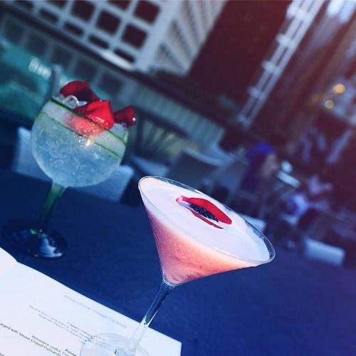 Armani/Privé cocktails.