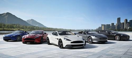 Aston Martin cars.