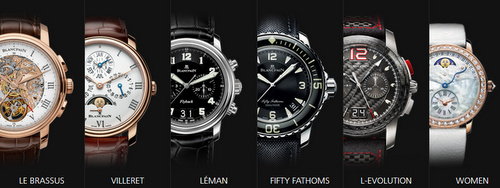 Blancpain watches.