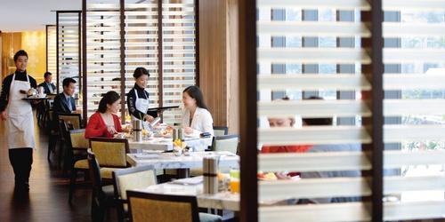 Café Causette restaurant Landmark Mandarin Oriental Hong Kong.