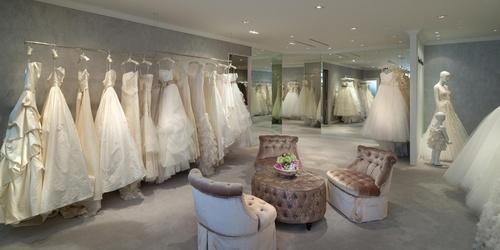 Central Weddings bridal salon Landmark Hong Kong.
