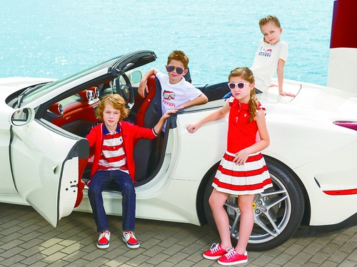 Ferrari children's clothing.