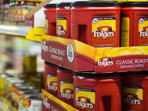 Gateway supermarket Folgers coffee Hong Kong.