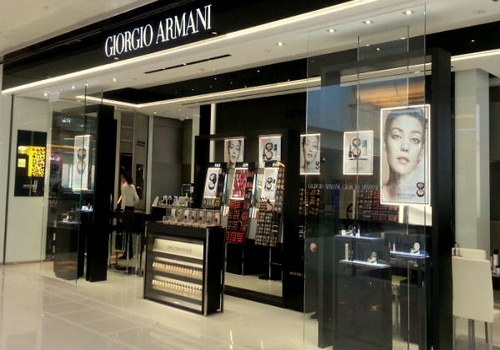Giorgio Armani Beauty store New Town Plaza Hong Kong.