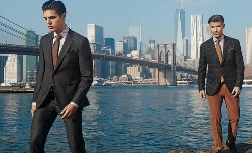 Isaia menswear ad New York City.