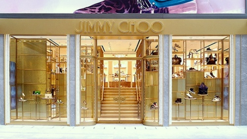 Jimmy Choo shoe and accessory store Harbour City Hong Kong.