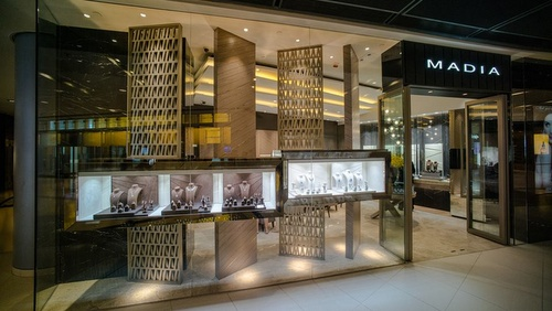 Madia jewellery store ifc mall Hong Kong.