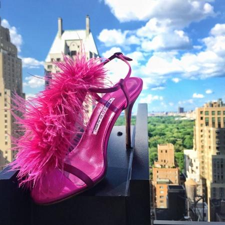 Manolo Blahnik high heels shoe.