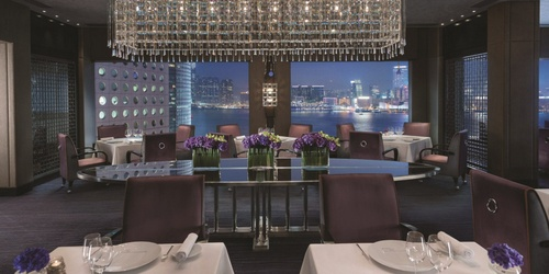 Pierre French fine dining restaurant Mandarin Oriental Hong Kong.