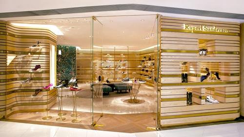 Rupert Sanderson shoe store Landmark Hong Kong.