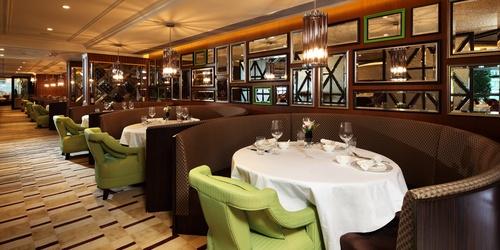 Shanghai Jade Chinese restaurant dining room Hong Kong.