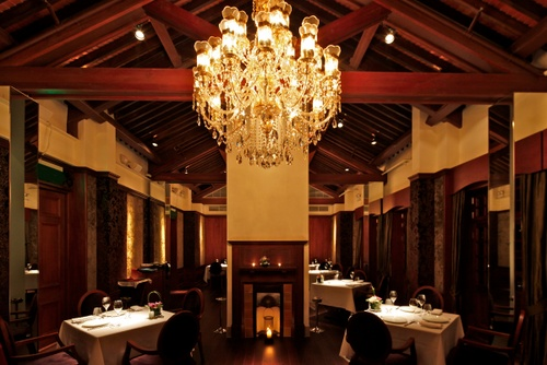 St. George French fine dining restaurant Hullett House hotel Hong Kong.