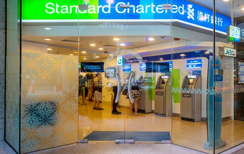 Standard Chartered bank branch Cityplaza Hong Kong.