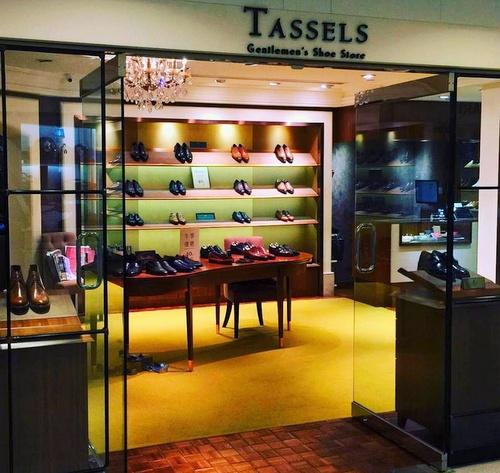 Tassels shoe store Landmark Hong Kong.