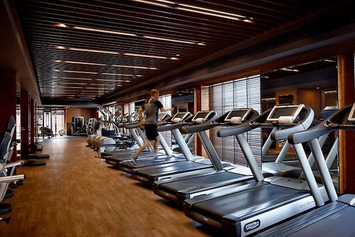The Mandarin Spa's fitness centre Hong Kong.