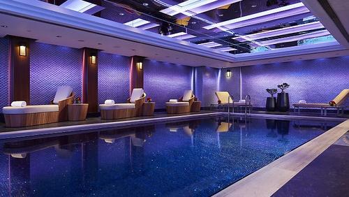 The Mandarin Spa's lap pool Hong Kong.