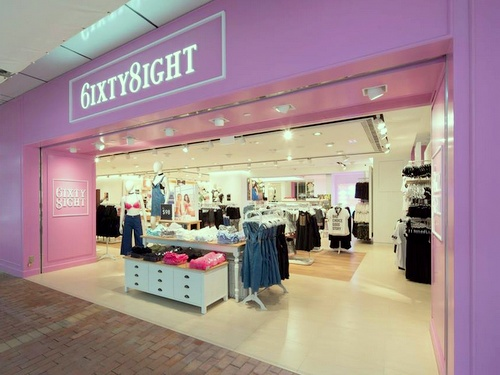 6IXTY 8IGHT clothing & lingerie shop Hollywood Plaza Hong Kong.