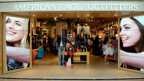 American Eagle Outfitters shop Times Square Hong Kong.