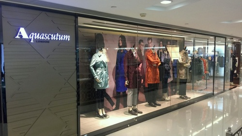 Aquascutum clothing shop Harbour City Hong Kong.