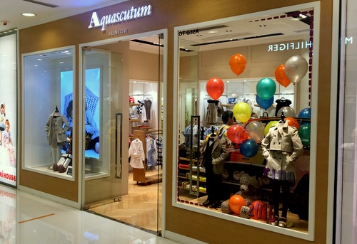 Aquascutum Junior children's clothing shop Harbour City Hong Kong.