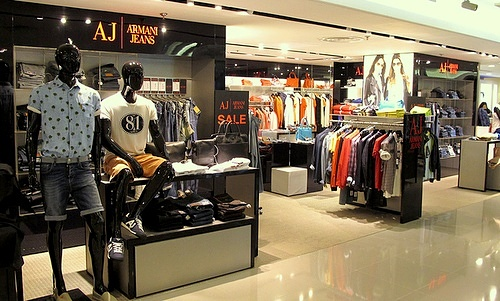 Armani Jeans shop at SOGO department store Causeway Bay Hong Kong.