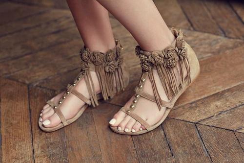 Ash sandals.