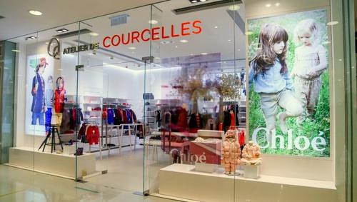 Atelier De Courcelles children's clothing shop Harbour City Hong Kong.