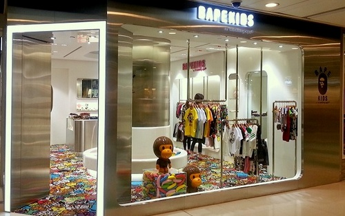 BAPE KIDS children's clothing shop New Town Plaza Hong Kong.