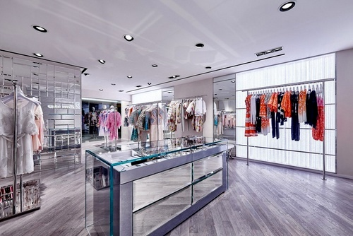 Blumarine clothing store Harbour City Ocean Terminal Hong Kong.