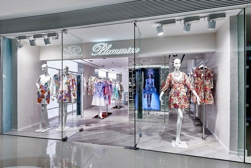 Blumarine clothing shop Harbour City Hong Kong.
