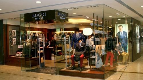 Boggi Milano menswear clothing shop Harbour City Hong Kong.