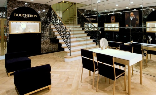 Boucheron jewellery and watch store Hong Kong.