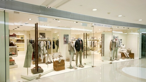 Brunello Cucinelli clothing shop Harbour City Hong Kong.
