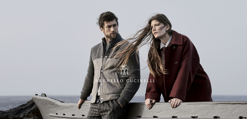 Brunello Cucinelli womenswear and menswear.