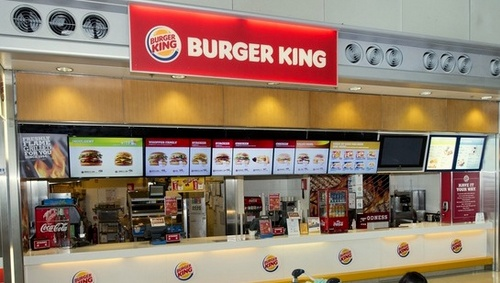 Burger King restaurant Hong Kong International Airport.