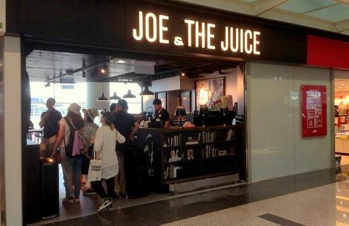 Joe & The Juice shop Hong Kong International Airport.