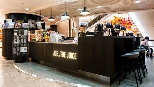 Joe & The Juice shop Times Square Hong Kong.