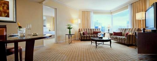 JW Marriott Hotel Hong Kong guest room city view.