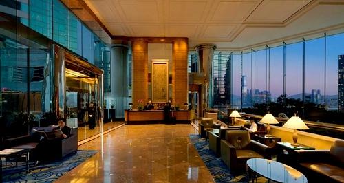 JW Marriott Hotel Hong Kong lobby.