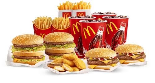 McDonald's hamburger meal.