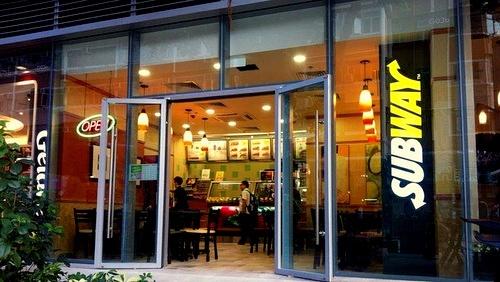 Subway restaurant Hong Kong.