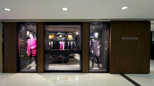 DSquared2 clothing shop Harbour City Hong Kong.