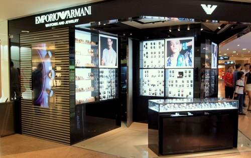 Emporio Armani Watches and Jewellery store Harbour City Hong Kong.