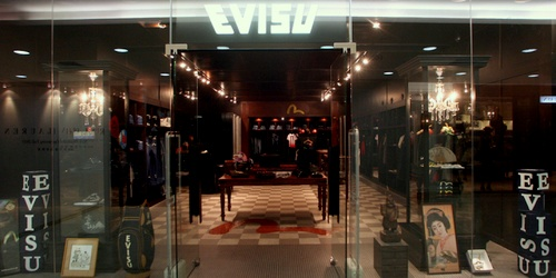 Evisu clothing shop Harbour City Hong Kong.