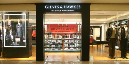 Gieves & Hawkes clothing shop Harbour City Hong Kong.