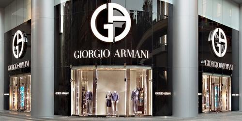 Giorgio Armani shop Harbour City Hong Kong.