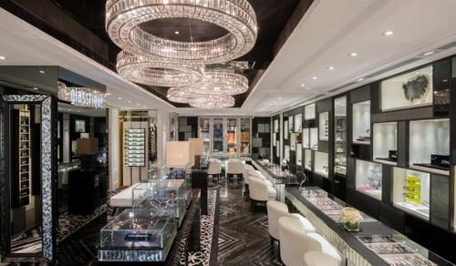 Glasstique optical shop 54 Canton Road, Hong Kong.