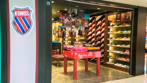 K-Swiss shoe shop Yuen Long Plaza Hong Kong.