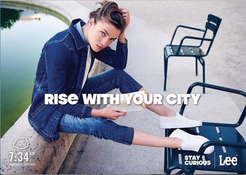 "Lee Jeans ""Rise with Your City"" ad."